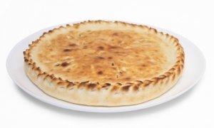 Осетинский рыбный пирог с сёмгой под сыром